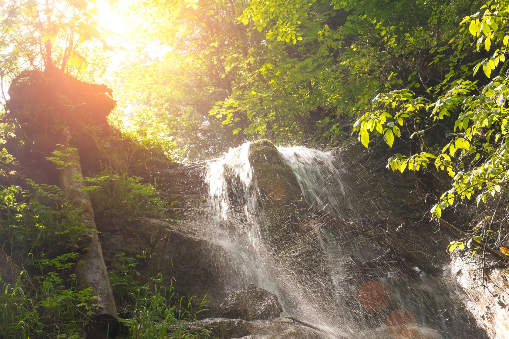 30807103 - waterfall in a forest in slovak paradise, slovakia